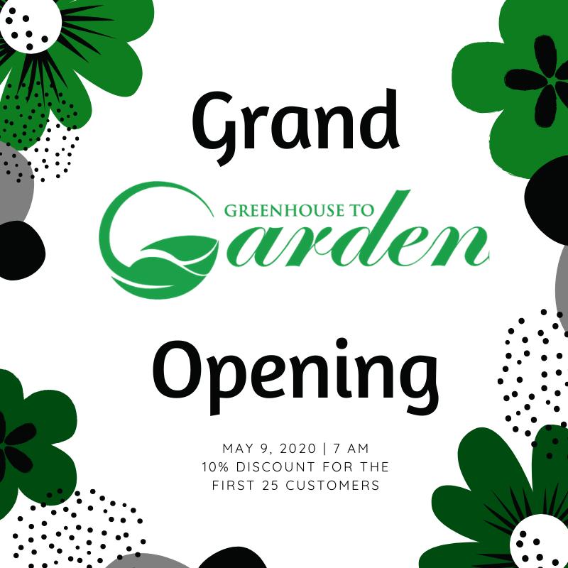 Vaughan Garden Centre - Greenhouse to Garden Opening